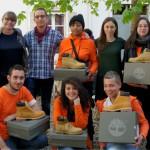 La remise officielle de la dotation (une paire de boots Timberland pour chacun!) a eu lieu hier, jeudi 17 avril à Paris