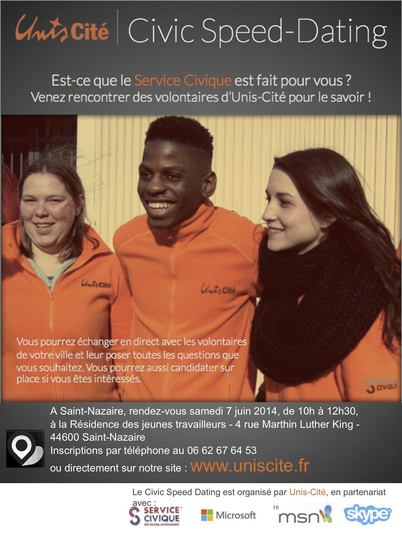 Civic speed dating le 7 juin à la Résidence des jeunes de St-Nazaire