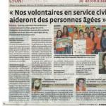 Unis-Cité Rhône dans le Progrès du 9/11/2014