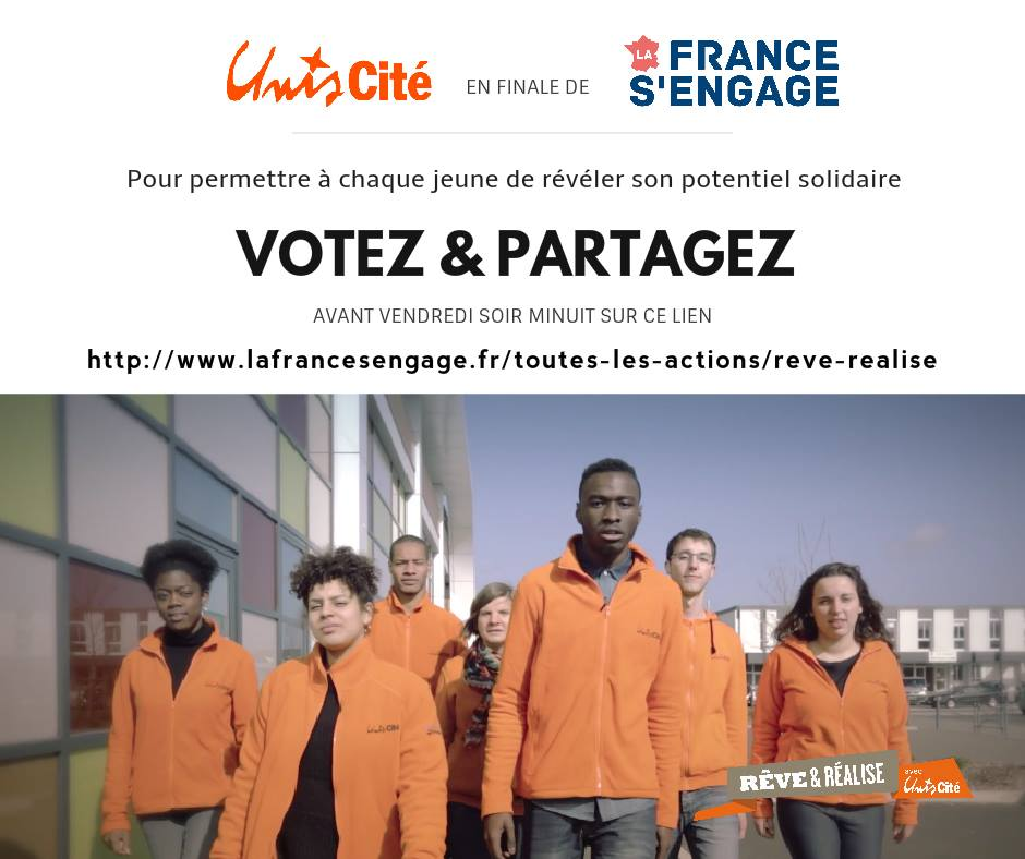 5 jours pour soutenir Unis-Cité en 5 clics ! #lafrancesengage