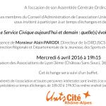 Assemblée Générale 2016 d'Unis-Cité Rhône-Alpes !