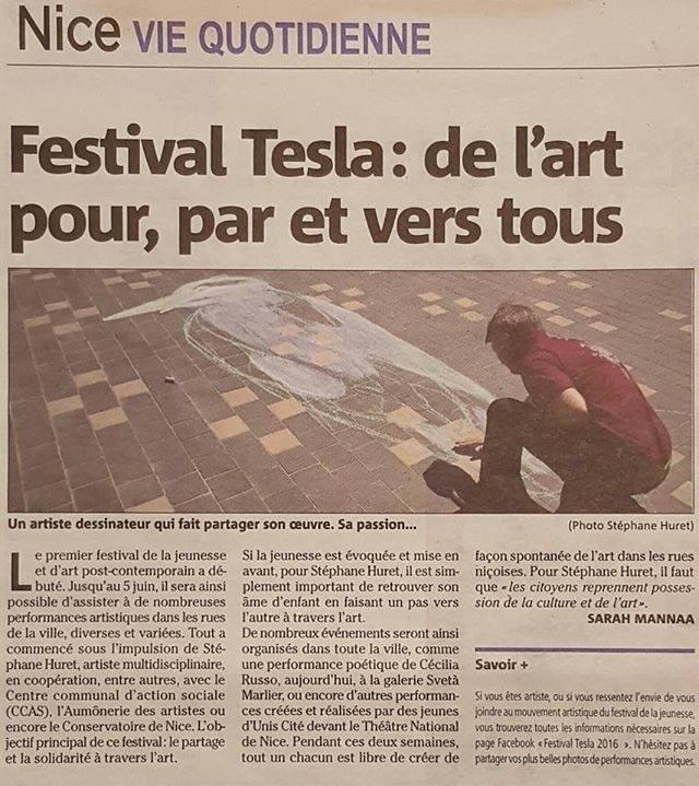 Les volontaires Booster ont créé une performance artistique avec la Cie Laura Hurt dans le cadre du festival Tesla