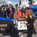 Les volontaires sensibilisent le public tout au long de la foire de Châlons