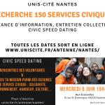 Unis Cité Nantes – 150 Volontaires recherchés pour Octobre 2018