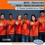 NEW !!! Séance recrutement à Unis-Cité La Flèche !