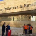 CP : Consultations Citoyennes Européennes,  les volontaires d'Unis-Cité Marseille ont animé un ciné-débat avec 50 détenus de la prison des Baumettes