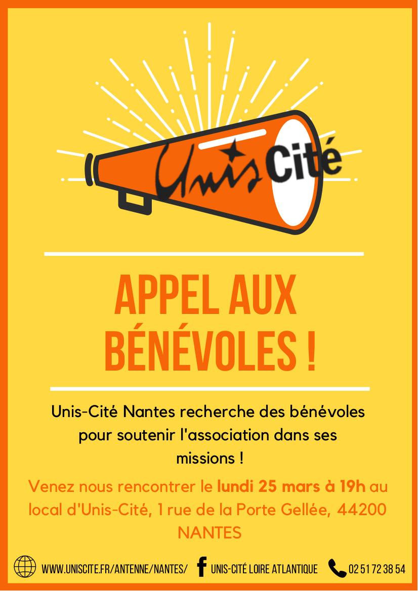 Unis-Cité Nantes recherche des bénévoles !
