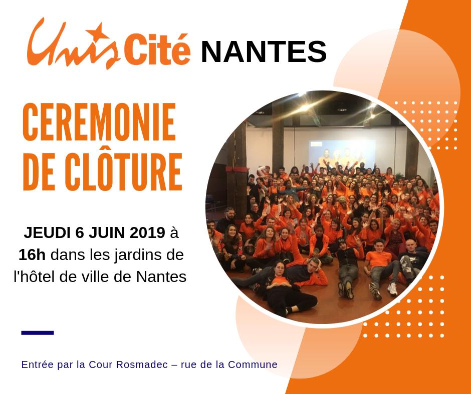 Cérémonie de clôture d\'Unis-Cité Nantes - 2019 - Unis-Cité