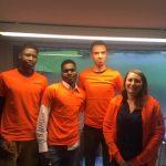 Tiphaine, Abdallah, Antoine et Majdi aident à développer une ferme urbaine innovante à Rennes