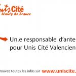 Unis Cité Hauts de France recherche SON/SA RESPONSABLE D'ANTENNES à Valenciennes et Saint Quentin
