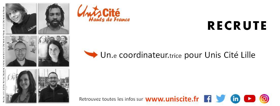 Unis Cité Lille recrute un.e coordinateur.trice d'équipes