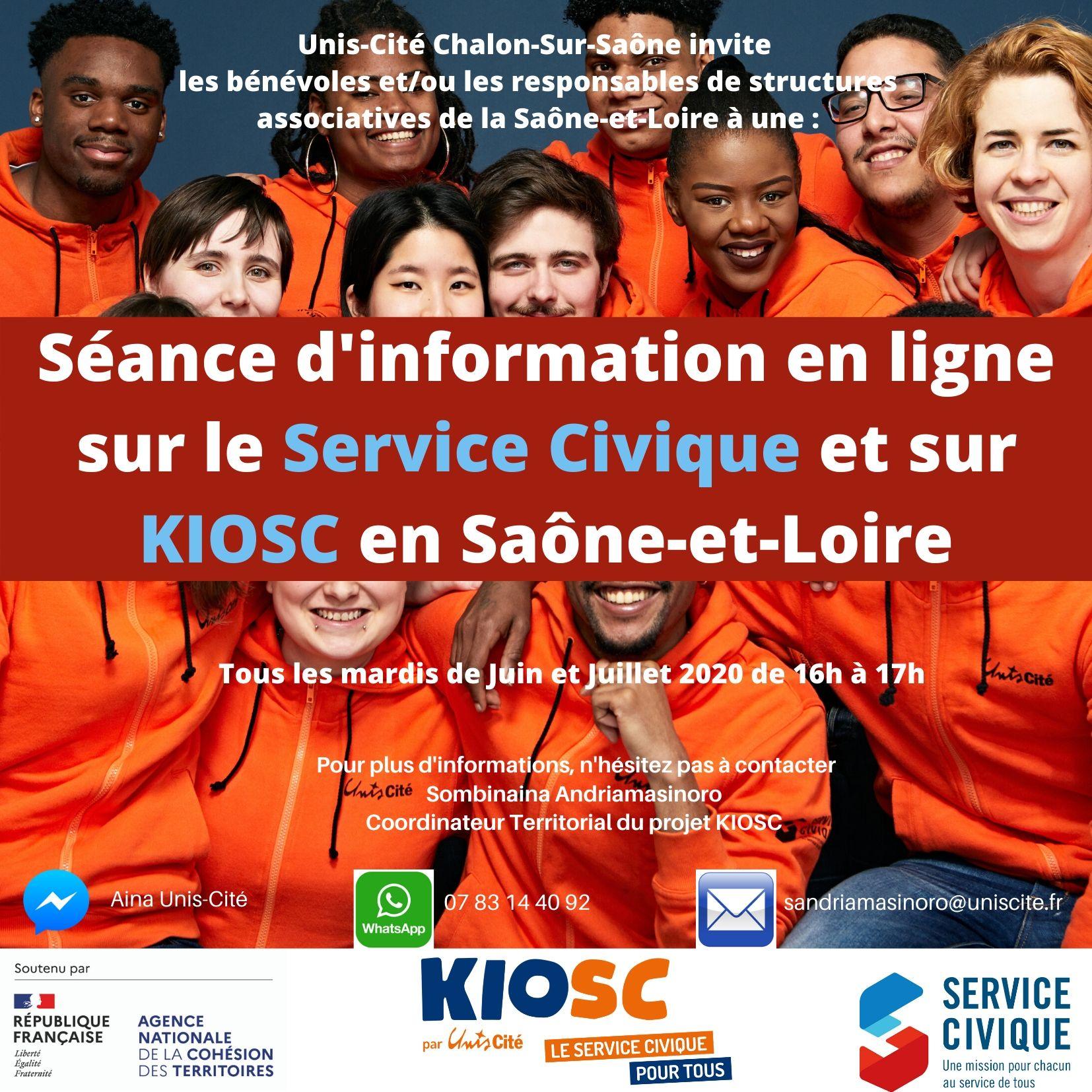On lance les séances d'information en ligne sur KIOSC en Saône-et-Loire!