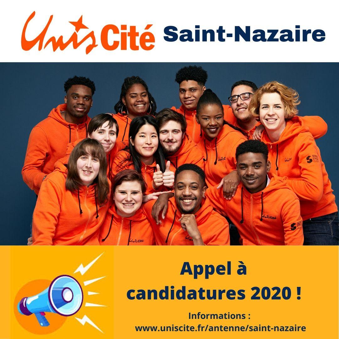 Unis-Cité Saint-Nazaire recrute 40 volontaires en Service Civique pour novembre 2020