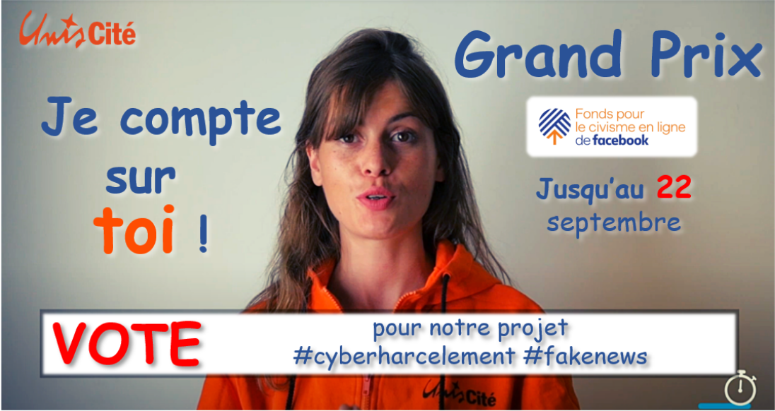 Appel à la mobilisation : Un like pour remporter 100 000€ et ainsi lutter contre le cyberharcèlement et les fake news
