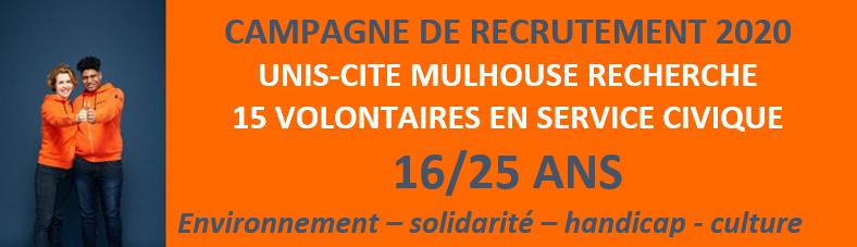 Unis-Cité Mulhouse recrute !