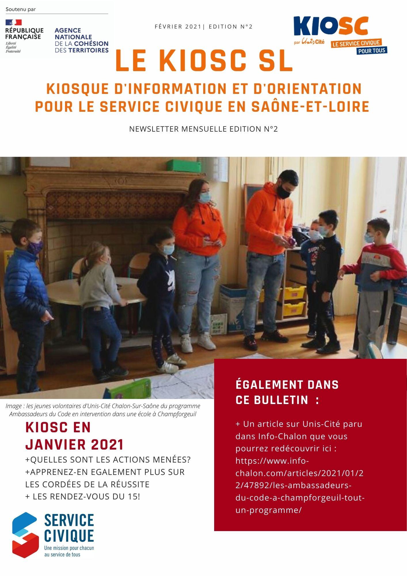 Newsletter KIOSC 71 de Février 2021 sur les actualités de Janvier 2021