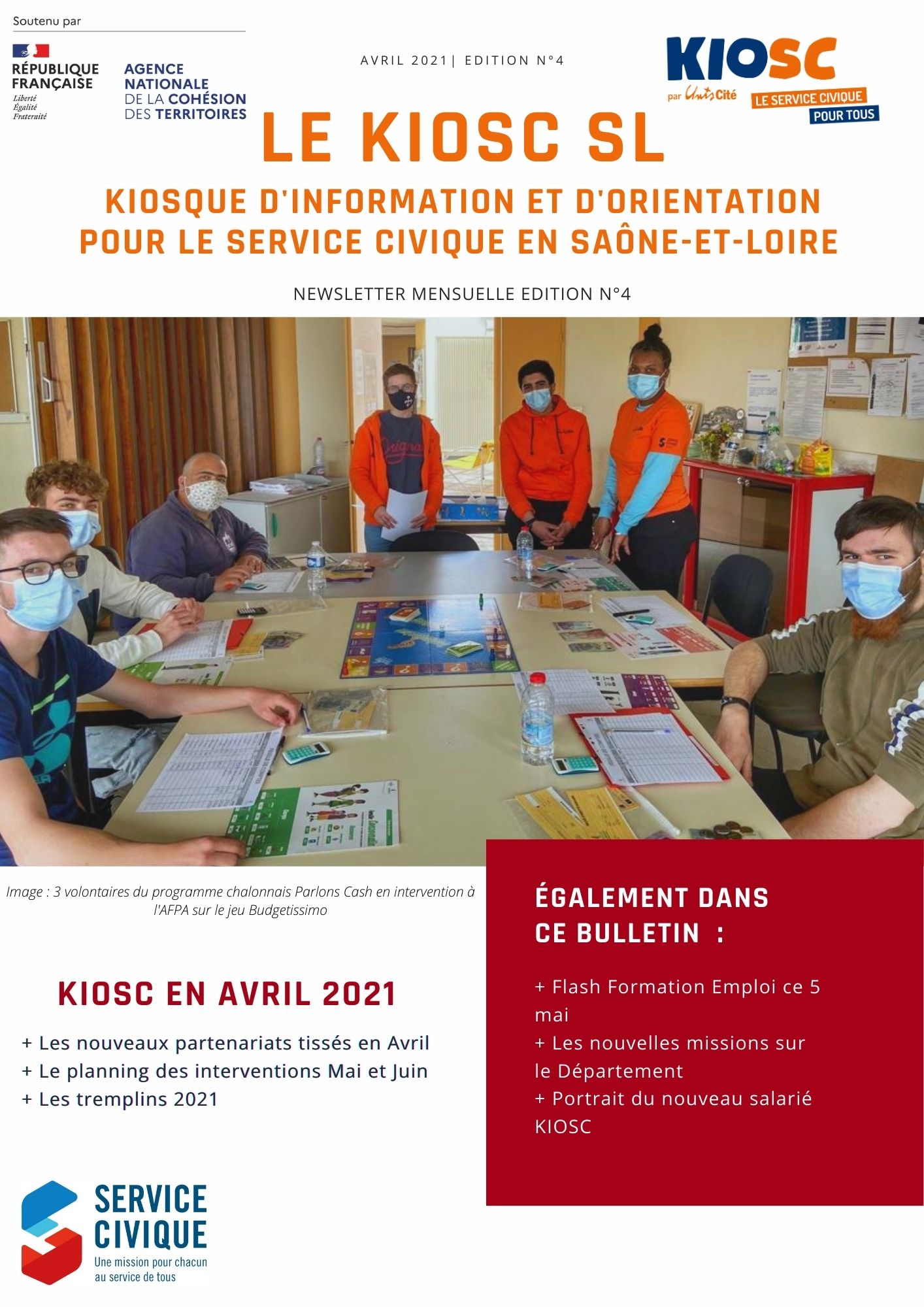 Newsletter KIOSC 71 d'Avril 2021