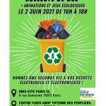 Collecte de Déchets Électriques Et Électroniques – 2 juin – Paris 13e