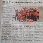 La presse locale parle d'Intergénéreux !